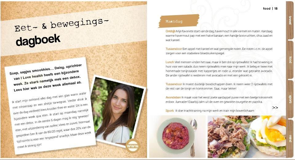 Vitae Magazine eetdagboek maart 2015