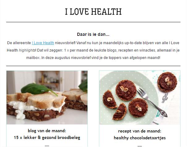 nieuwsbrief i love health