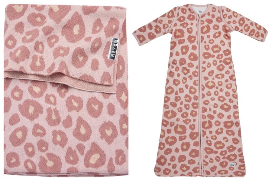 meyco pink leopard