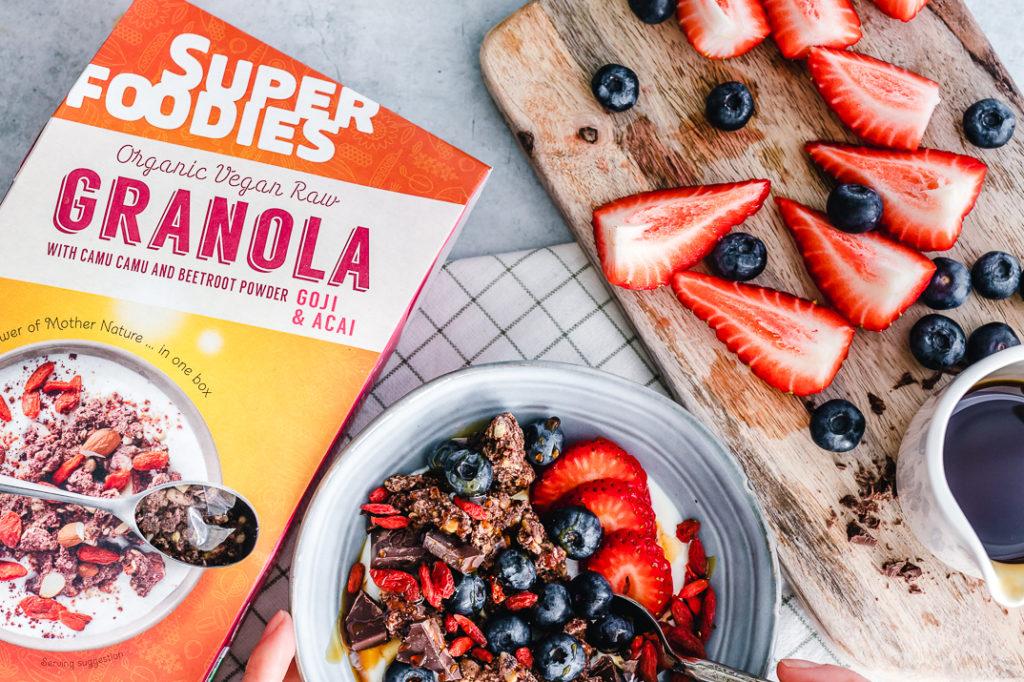 granola, chia, superfoodies ontbijtlijn, paleonola