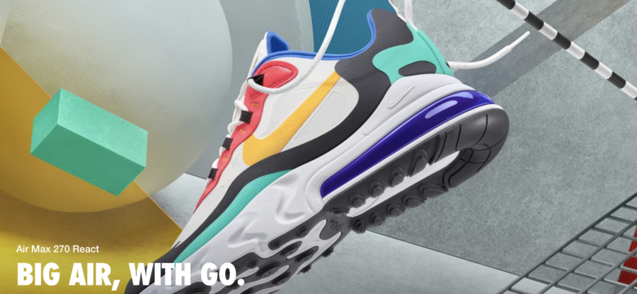 Nike react, nike air max 270 react, what's new, augustus 2019