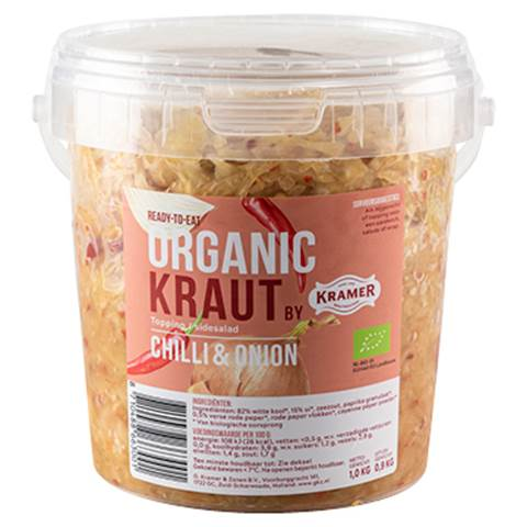 organic kraut, chili-onion