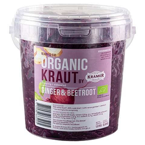 organic kraut, ginger-beetroot