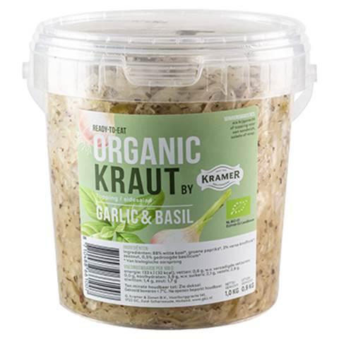 organic kraut, basilicum-garlic