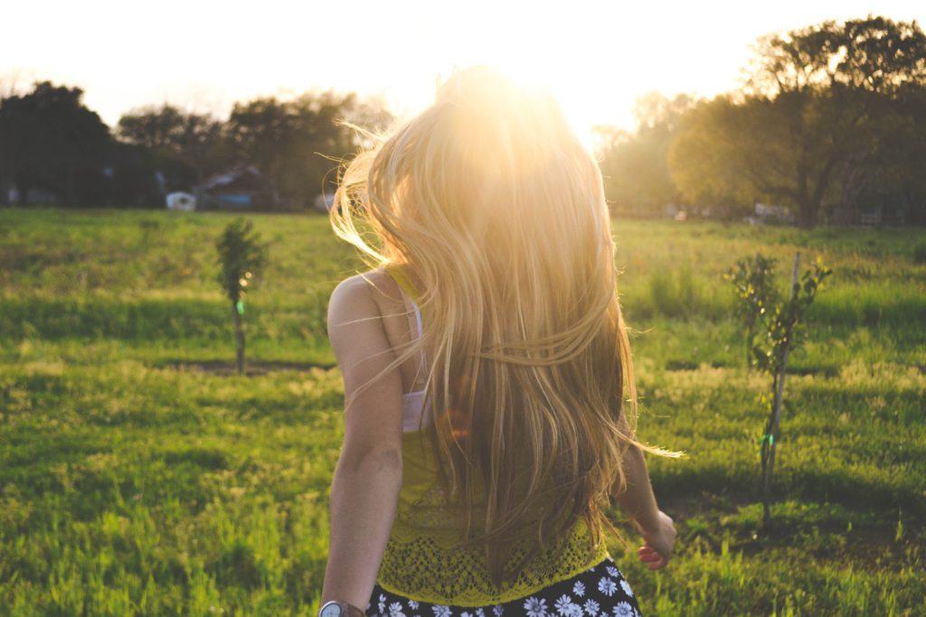 beschadigd haar, zomer, zon