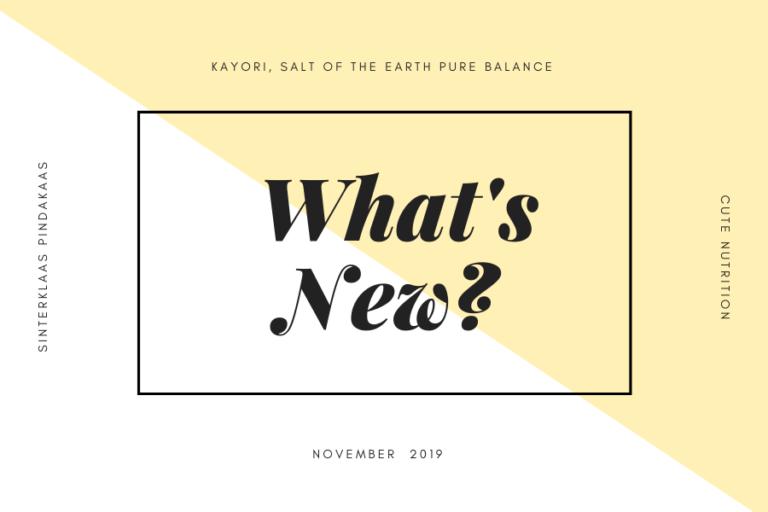 WHAT'S NEW, november 2019