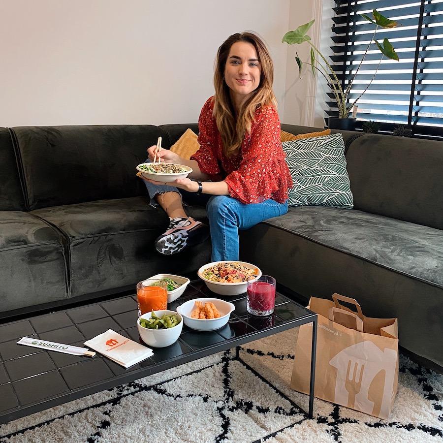 thuisbezorgd.nl experience food sushi