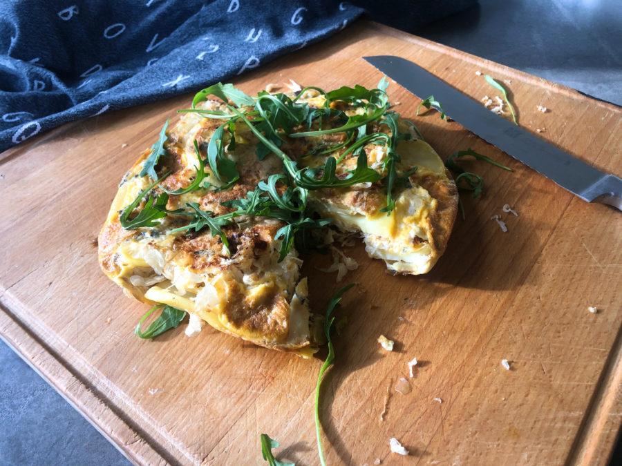 tortilla aardappel, zuurkool, gezond