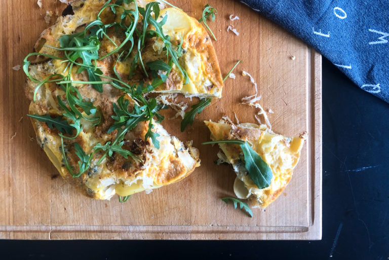 aardappel tortilla, zuurkool, gezond, goede voornemens