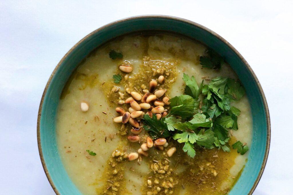 vegan zoete aardappel pastinaak soep, vegan, recept, gezond