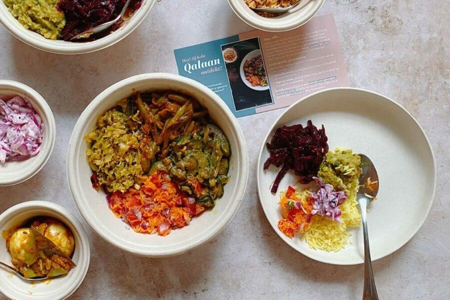 Novo em Amsterdã: Qalaan // Entrega realmente deliciosa de vega (n) em casa