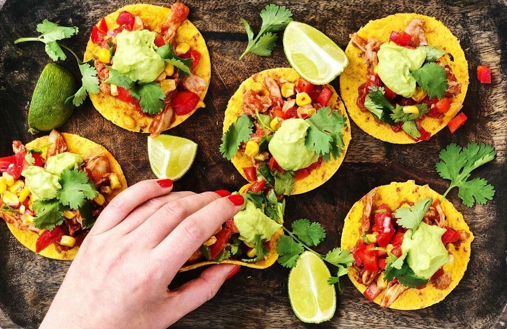 mexicaanse tostada, mexicaans, delizatbeth, mexicaans recept