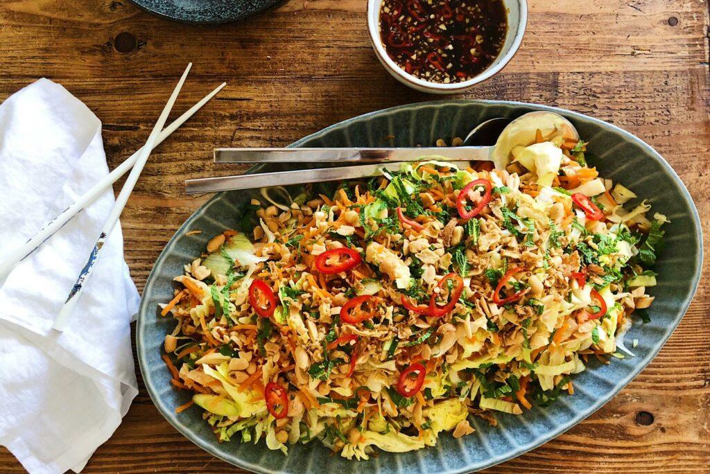 vietnamese salade, kip, salade, vietnamees