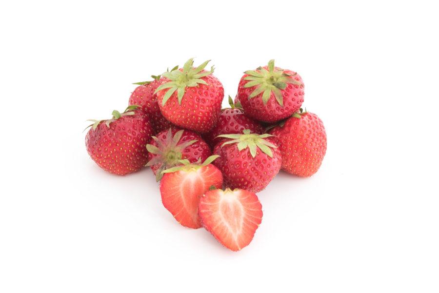 Aardbeien, seizoensgroenten- en fruit
