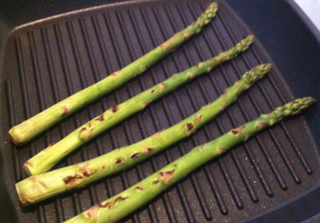 Gegrilde asperges uit eetdagboek