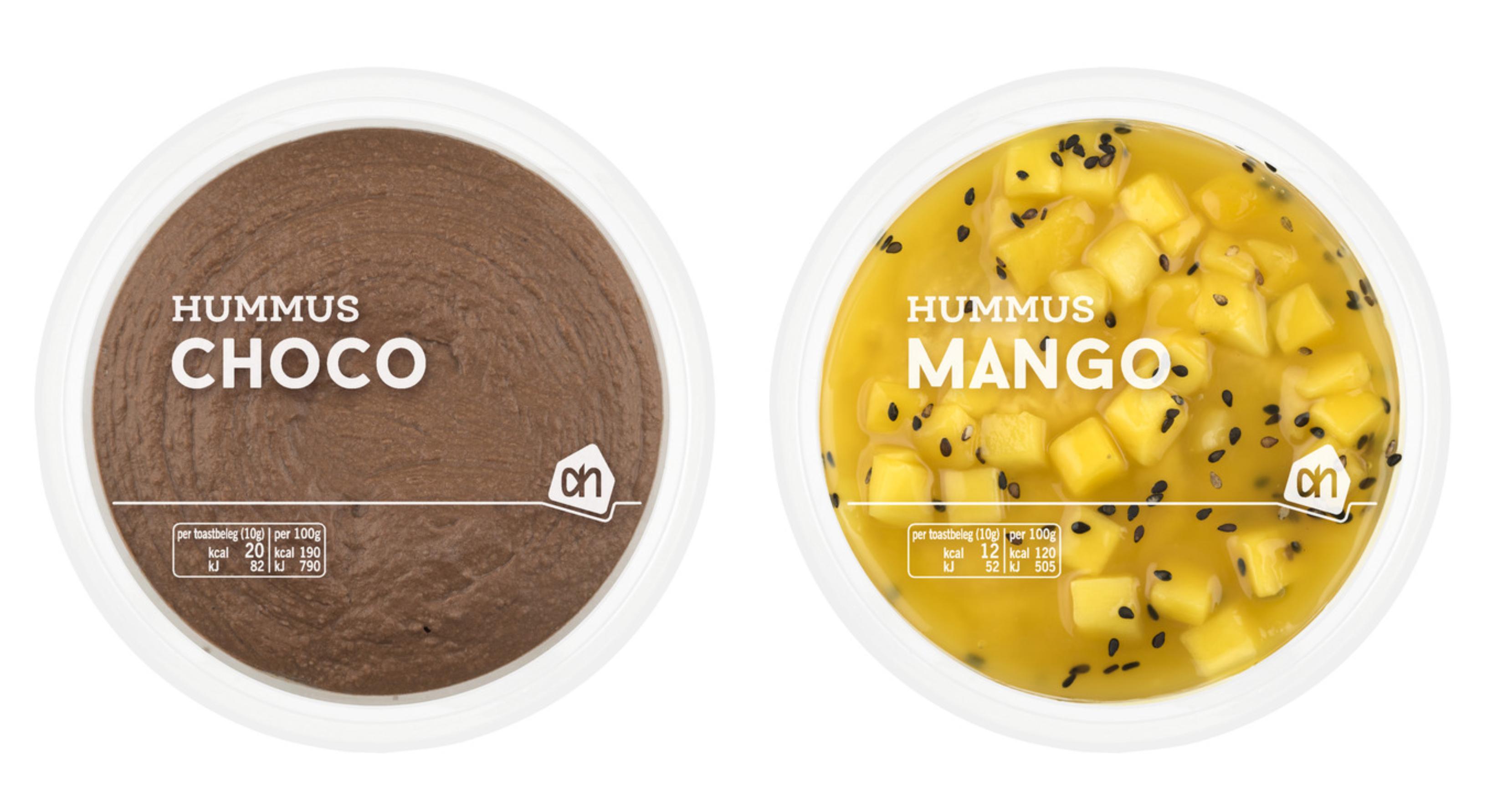 hummus, smaken, choco, mango, ah