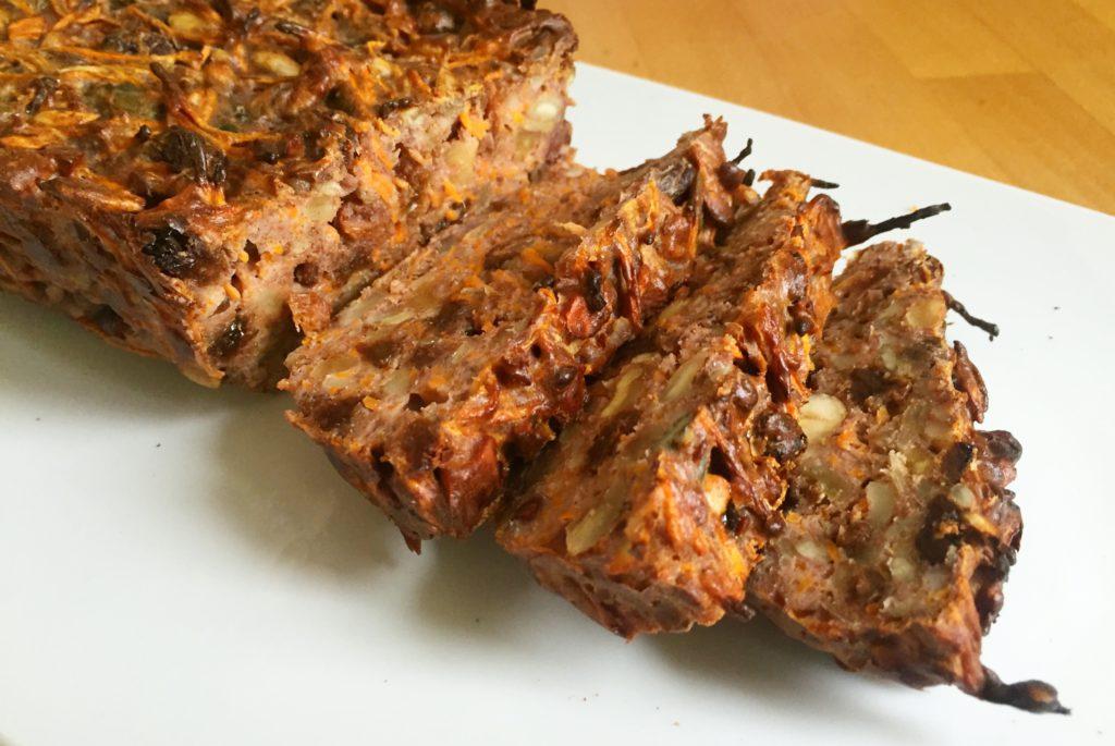wortel notenbrood met rozijnen, boek van jet