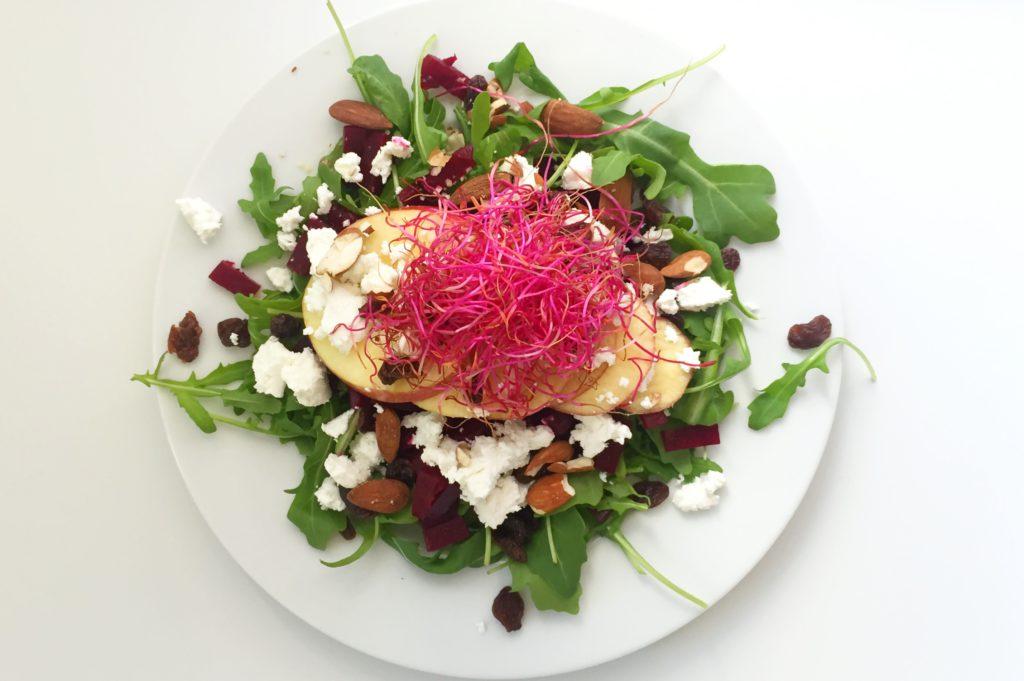 Salade van rode biet
