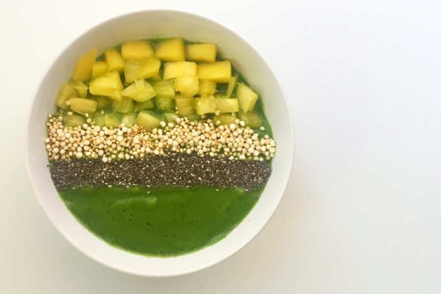 smoothiebowl van tarwegrassap