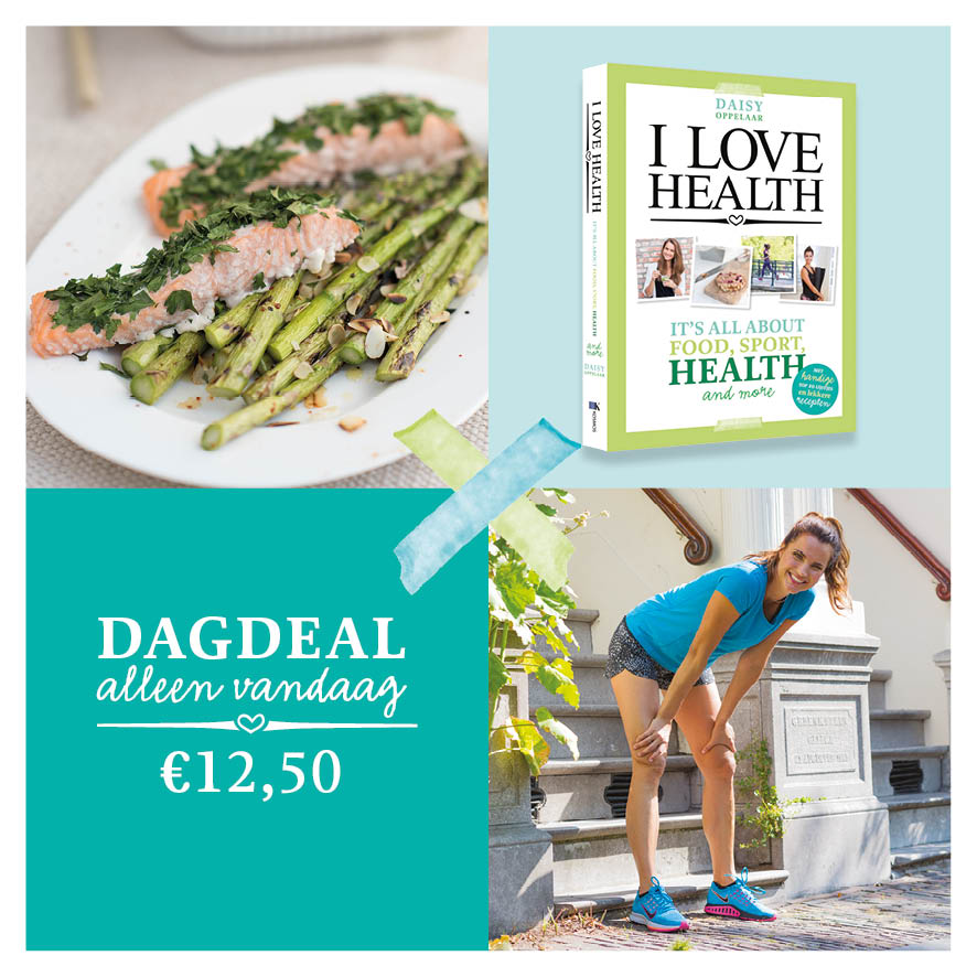 FB advertentie dagdeal bol.com i love health boek