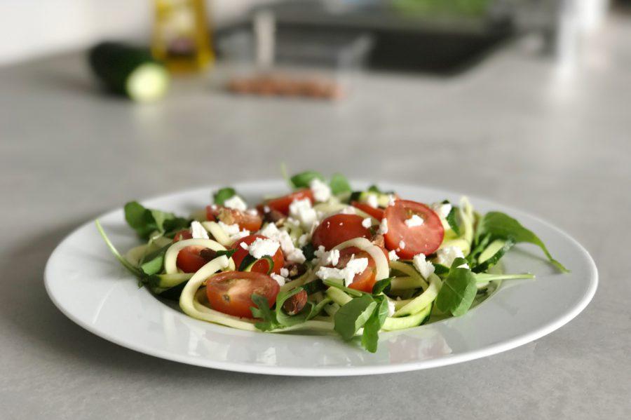 Frecious Zomer Detox, courgette, courgette pasta