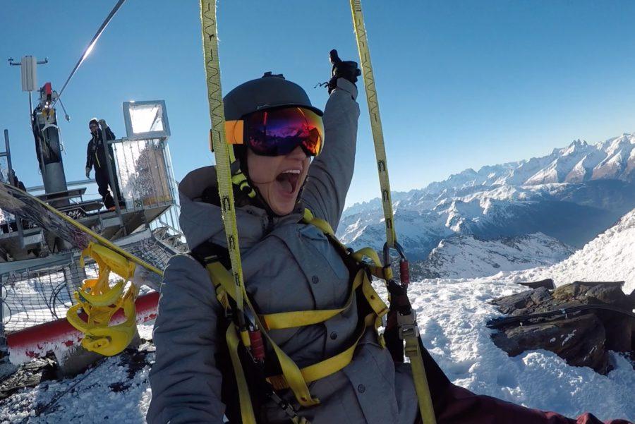 la tyrolienne, val thorens, wintersport