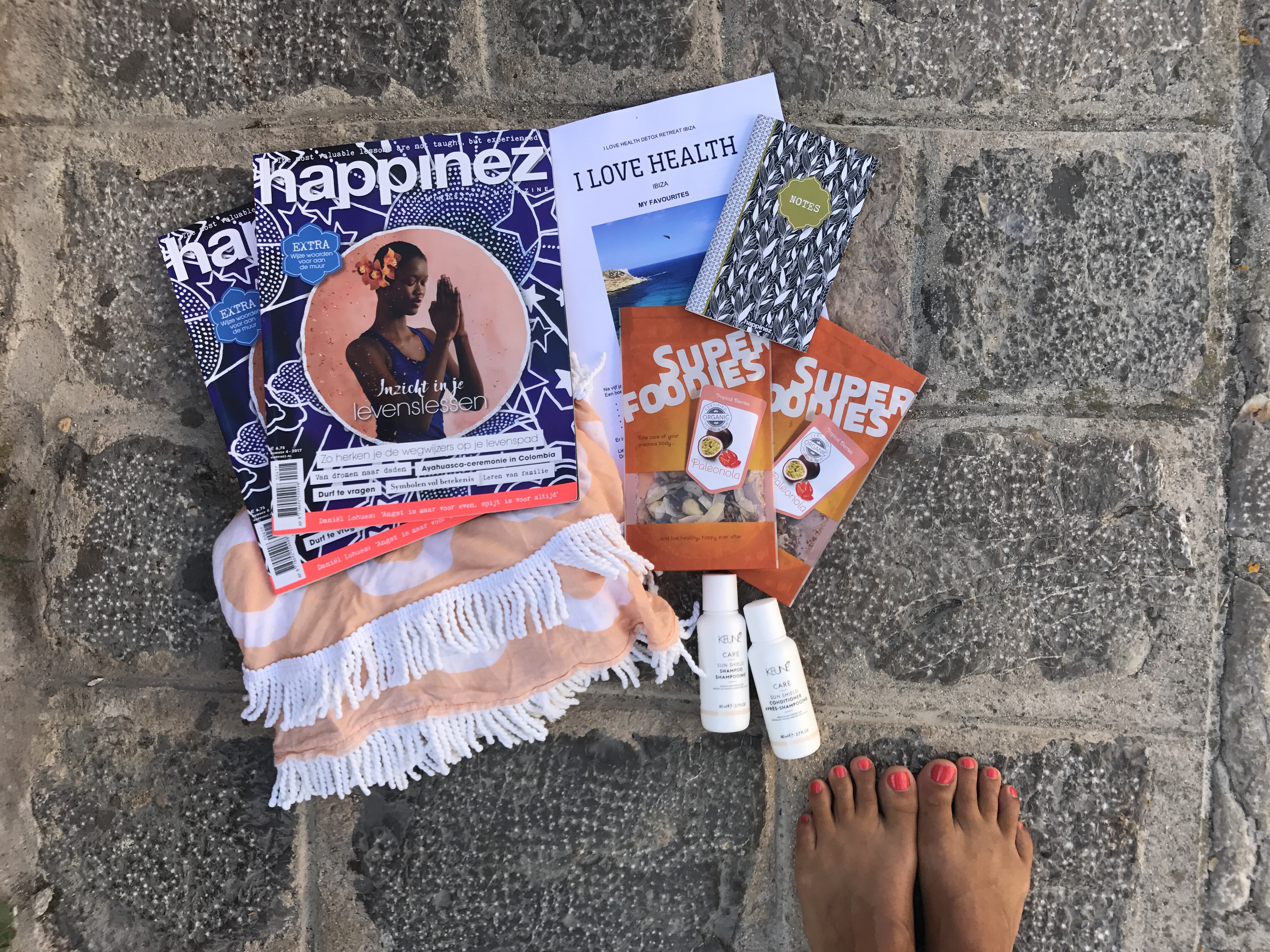i love health detox retreat ibiza, goodie bag