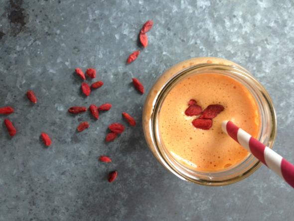 Goji Vanille Protein Sunwarrior smoothie met eiwitten - eiwit shakes