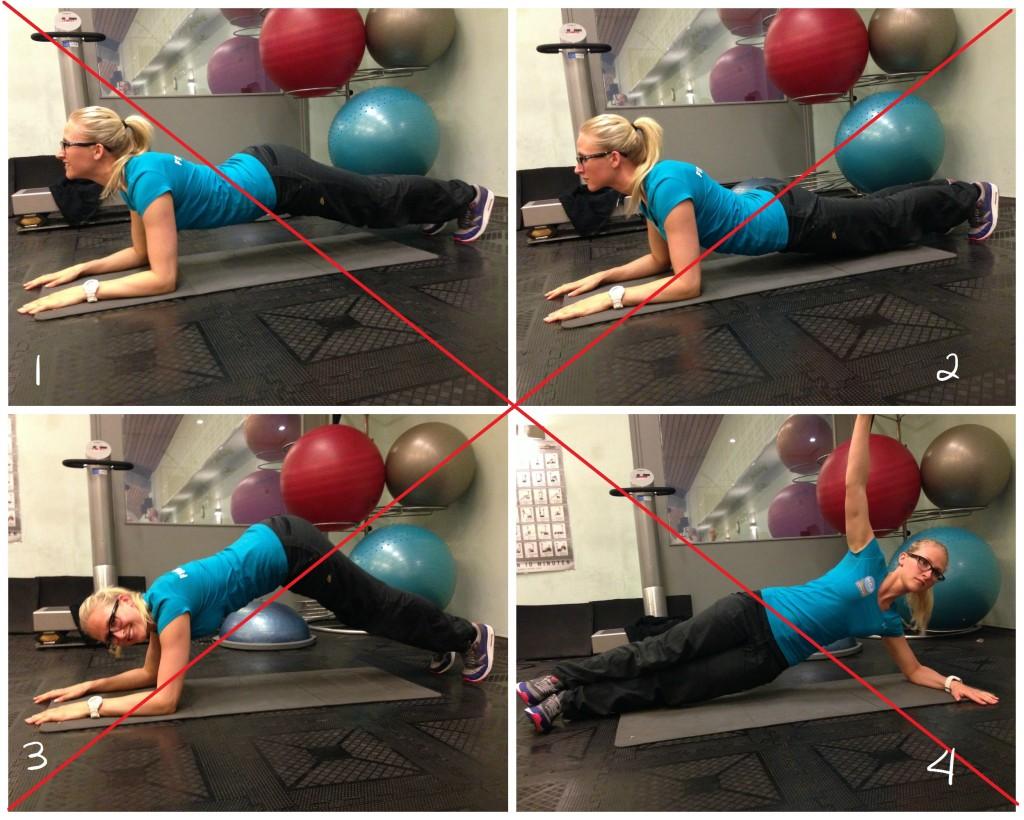Core workout - zo moet het niet