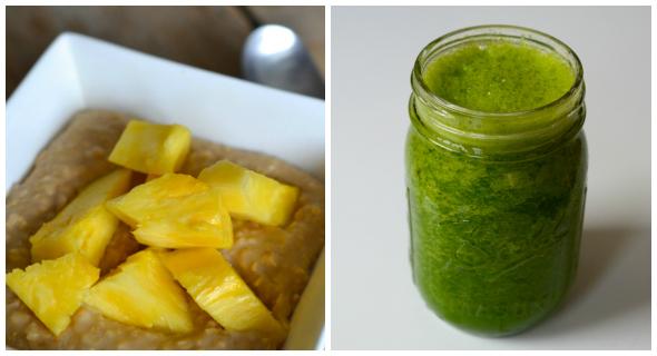Havermout en groene smoothie eetdagboek Rens Kroes