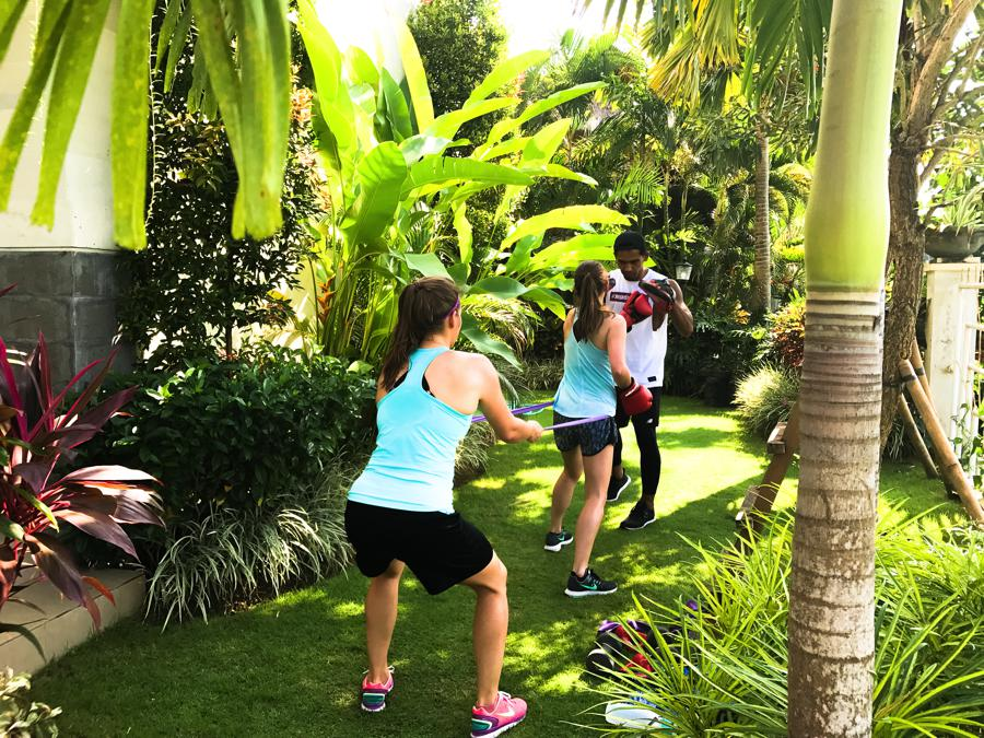 I Love Health Retreat Bali april 2017 personal training