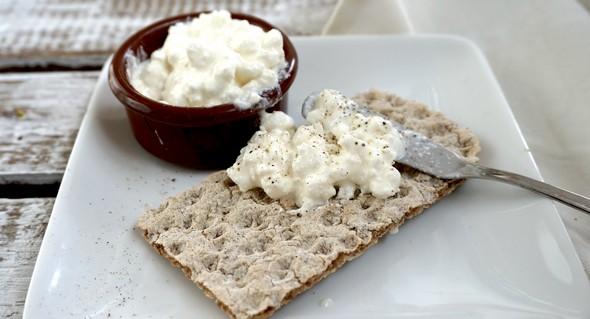 eetdagboek Hannah Vreugdenhil ontbijt cracker hüttenkäse