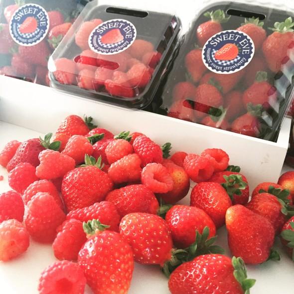sweet eve aardbeien frambozen
