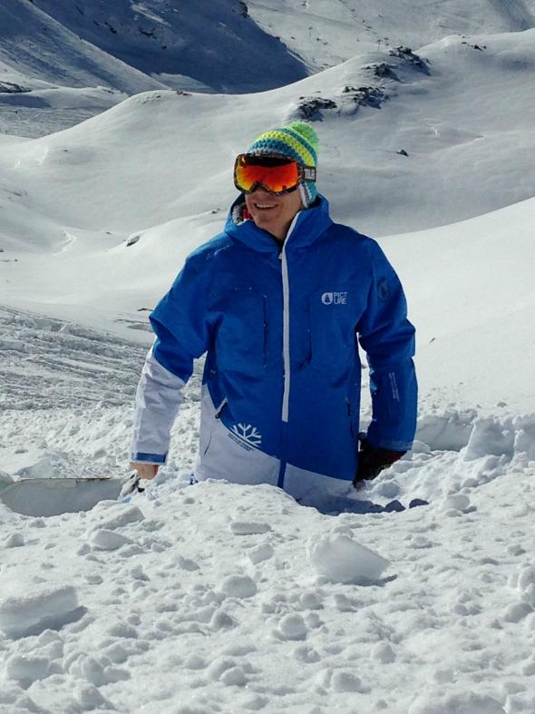 Snowboarden, poedersneeuw