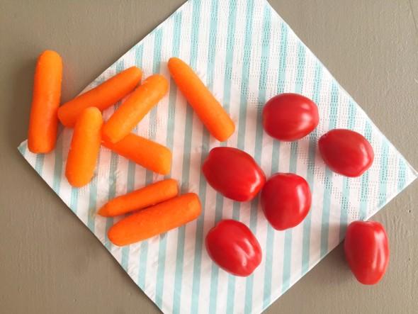 albert heijn lunchtrommel snack tomaatjes, wortels