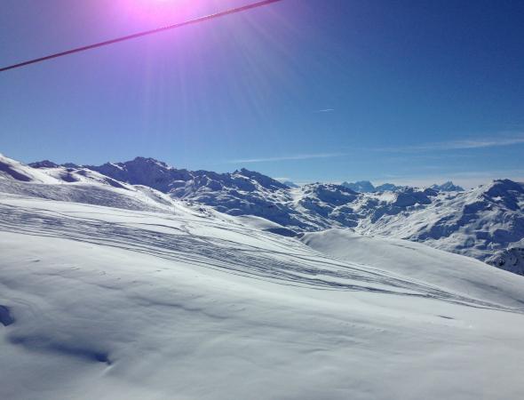Snowboarden, Val Thorens, uitzicht