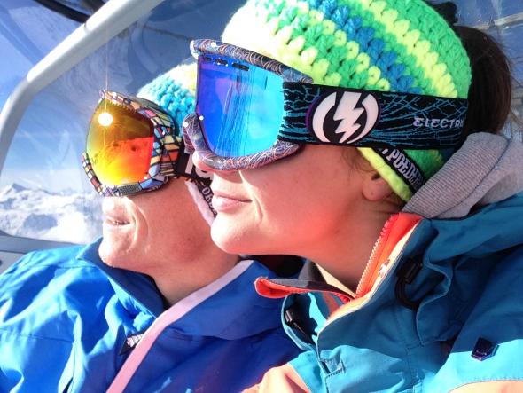Snowboarden, Val Thorens, lift, electric, poederbaas