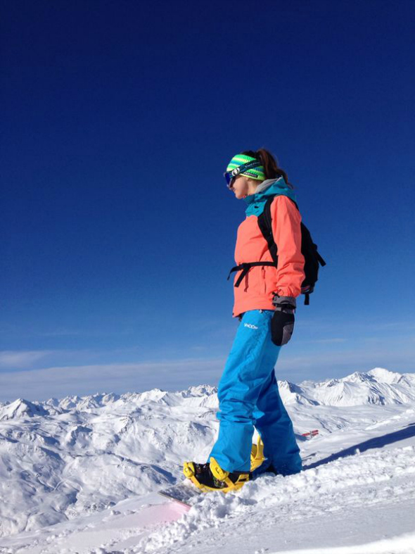 snowboarden, uitzicht, val thorens