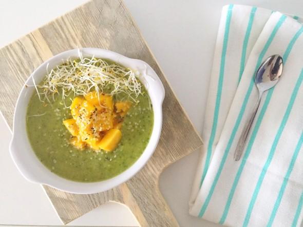 mango smoothie bowl, bewaartips