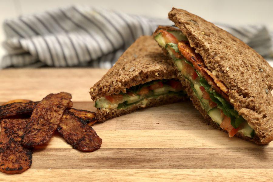 tempeh bacon, BLT, bacon, vegan