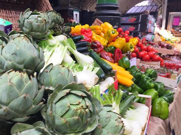 londen healthy food tips, borough market, groenten