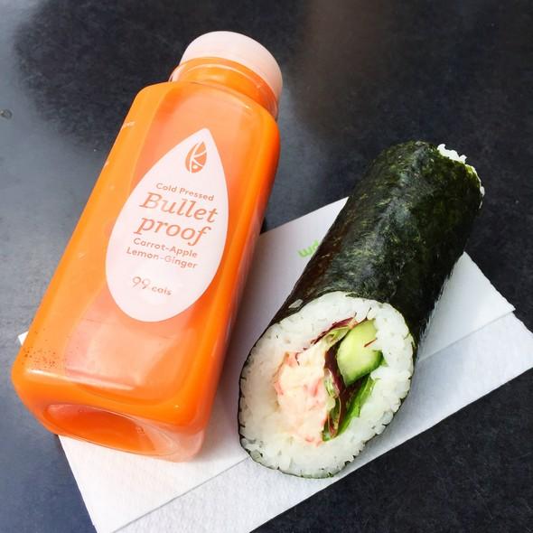 londen healthy food tips, abokado, juice, sushi