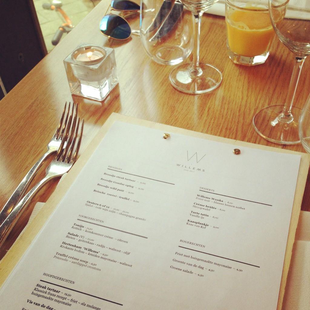 Restaurant Willems lunch