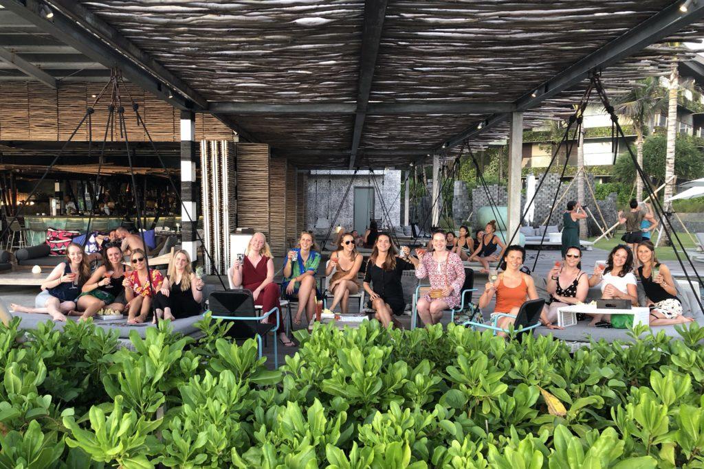 sunset drinks, i love health retreat Bali september 2018