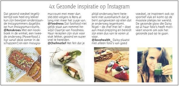 Metro - instagram vermelding I Love Health