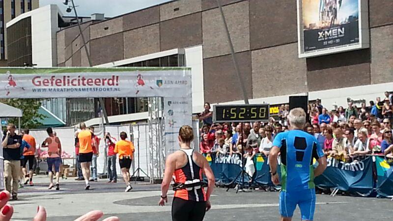 Halve marathon finish