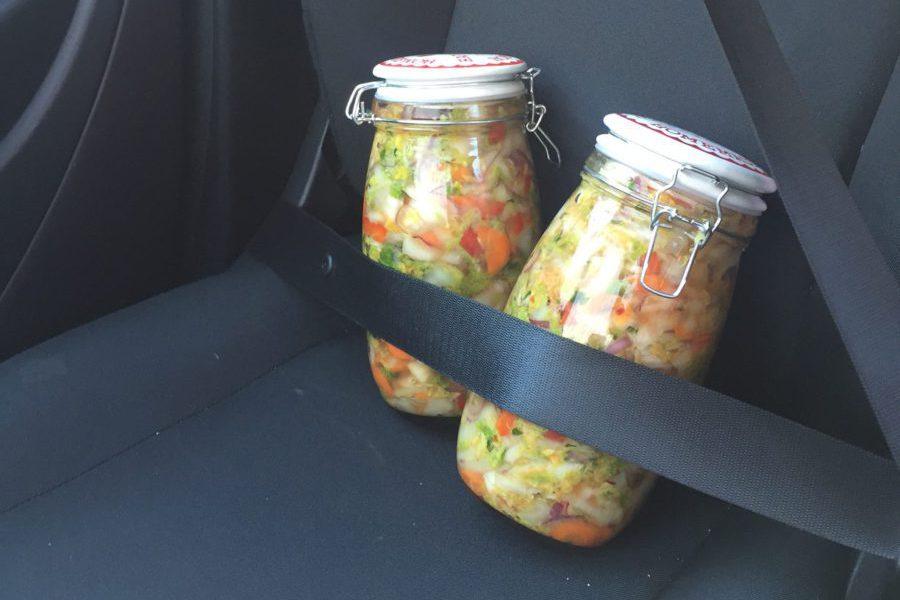 ingemaakte groenten, kimchi