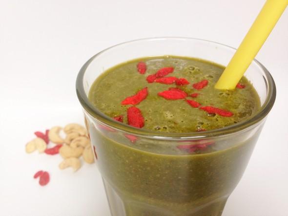 slanke matcha groene thee smoothie
