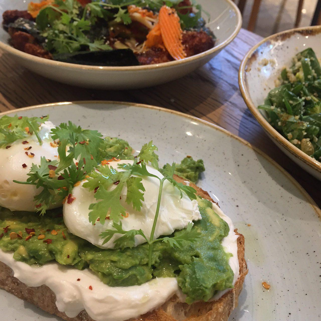 dubai tips, common grounds restaurant , avocado poached eggs