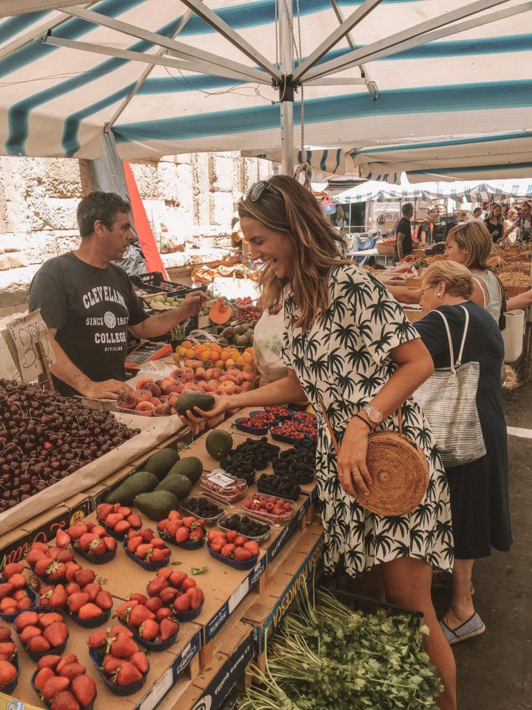 sicilie, italie, markt, groenten, fruit, daisy